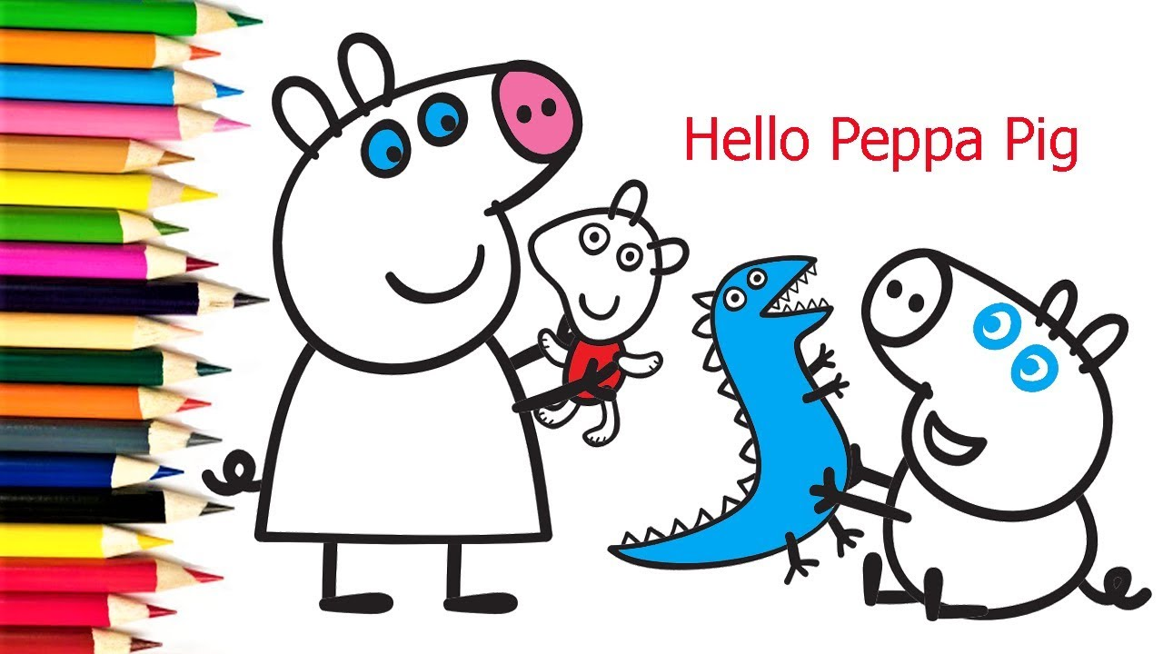 Peppa Pig Coloring Pages | How to Draw & Coloring Peppa ...
