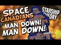 SPACE CANADIANS MAN DOWN! ep 04 - Starship Theory - build, explore, manage your crew game!