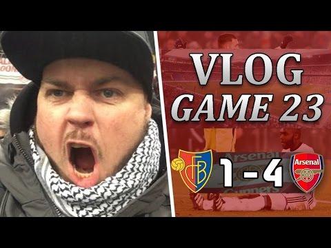 Basel 1 v 4 Arsenal   Pérez The Hat-Trick Hero   Matchday Vlog   Game 23
