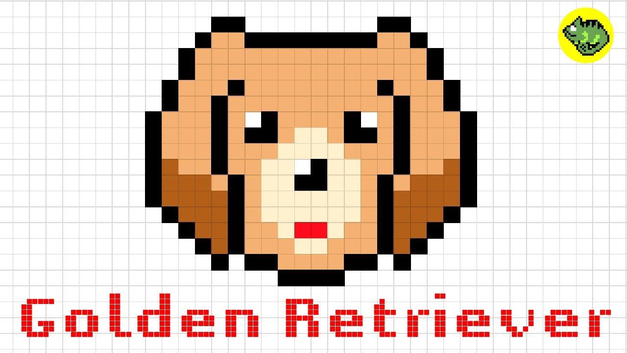 Pixel Art Golden Retriever Dog Series3how To Draw A