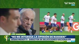 Menotti liquidó a Ruggeri: