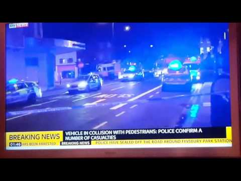 Vehicle In Collision With Muslims in london 19/06/17 seven sisters Road. Many injured. lone wolf