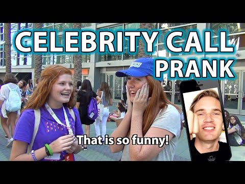 YouTubers React to PewDiePie PRANK! (How to do Celebrity Call Prank)