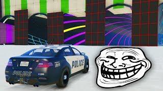CARRERA TROLL! POLICIAS EN ACCIÓN!! - CARRERA GTA V ONLINE - GTA 5 ONLINE