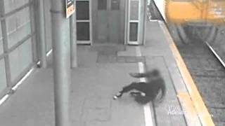 Boy Runs In Front Of Train At Mawson Lakes - NEW FOOTAGE 23/08/2011