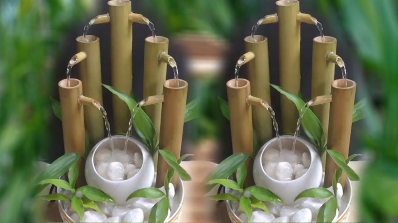How To Make Water Fountain Using Bamboo Indoor Floor Fountains