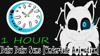 baku baku sans undertale animation 1 hour   one hour of