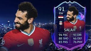 FIFA 21: MOHAMED SALAH 91 RTTF PLAYER REVIEW I FIFA 21 ULTIMATE TEAM