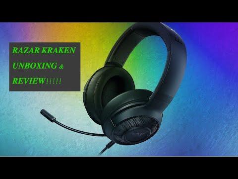 Razer Kraken x Unboxing & Review !!!!!!!