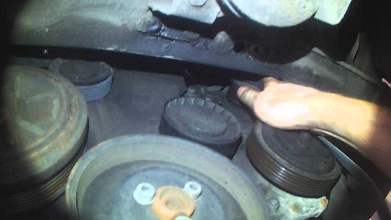 vw t4  2 5l serpentine belt replacement  better lighting