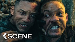 GEMINI MAN  Catacomb Fight Extended Scene (2019)