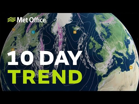10 Day Trend – Warmer next week yes, but not necessarily sunny