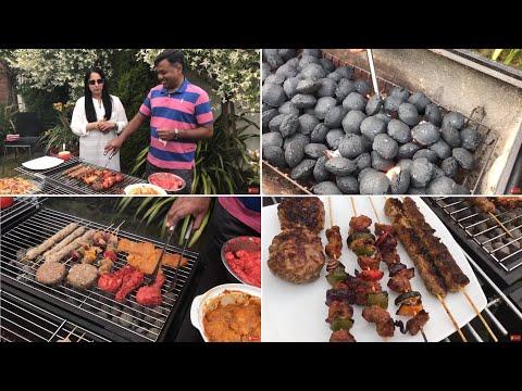 Charcoal Barbecue-Mutton Seekh Kebab,BBQ Chicken,Tandoori Chicken,Lamb Kebab-Procedure for Beginners