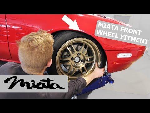 Miata Fender Rolling FRONT Wheel Fitment DIY
