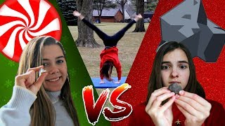 CANDY OR COAL?! Christmas Gymnastics Game