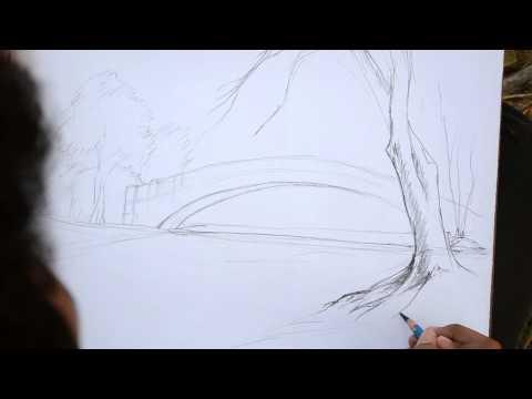 สาธิตการวาดภาพ Landscape FULL HD
