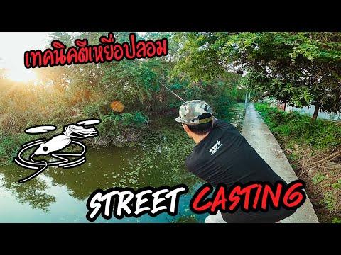 เทคนิคการตีเหยื่อปลอม (รอกเบท) STREET CASTING