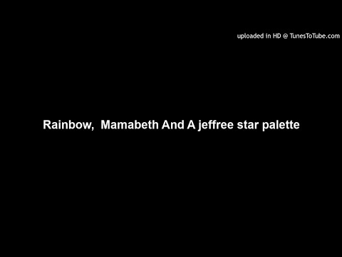 Rainbow,  Mamabeth and A Jeffree Star palette. thumbnail