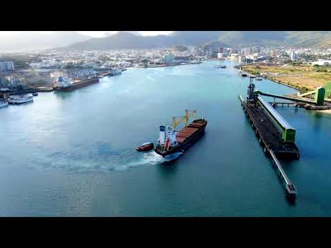 Ship accosting into Port Louis Harbour | Mauritius