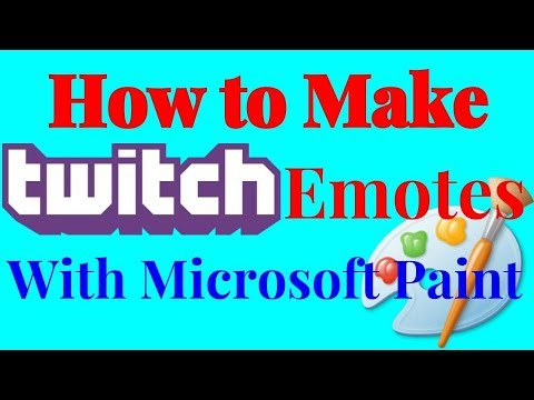 HOW TO MAKE TWITCH EMOTES WITH MICROSOFT PAINT - YouTube