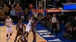 Victor Oladipo DENIES Carmelo Anthony at the Rim