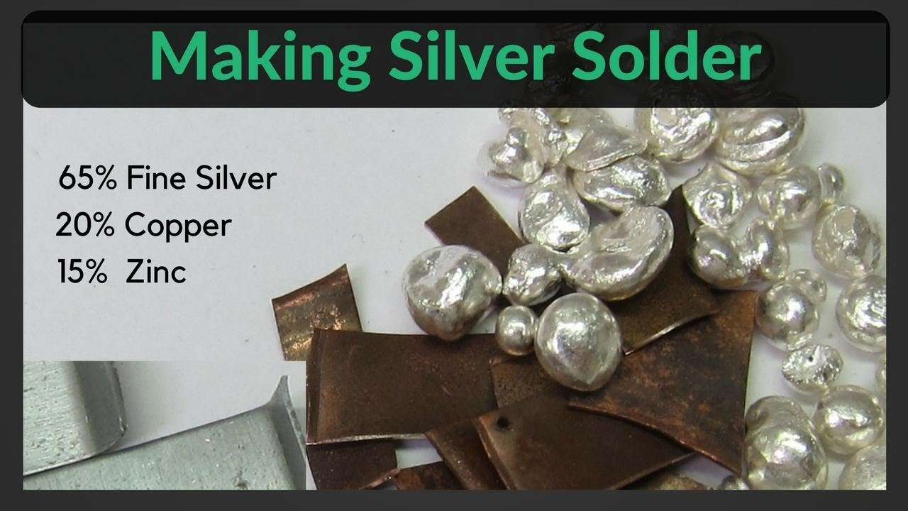 How to Make Your Own Easy Silver Solder - YouTube