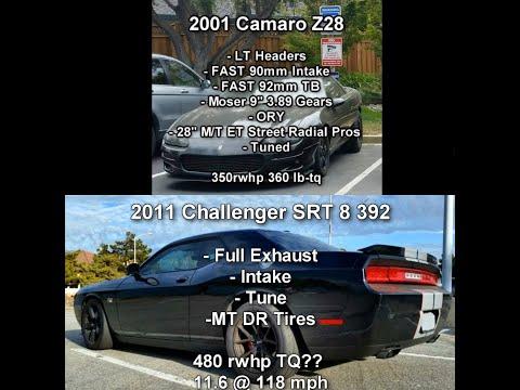 2001 Camaro Z28 vs 2011 Challenger SRT8 392