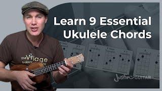 Ukulele Lesson 3 - Uke Open Chords: A Am A7 D Dm D7 E Em E7 - Ukulele Tutorial - [UK-003]