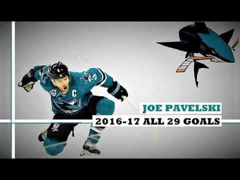 Joe Pavelski (#8) ● ALL 29 Goals 2016-17 Season (HD)