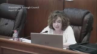 August 10 2021 Phoenixville Council