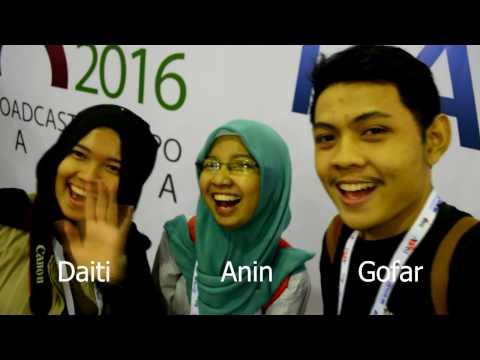 Indonesia Broadcasting Expo 2016 Vlog #1 Gofar Effendy Feat Anin, and Daiti