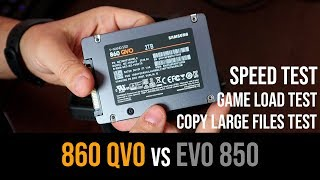 Samsung 860 QVO vs EVO 850 Speed tests | Game Load | Copy Files