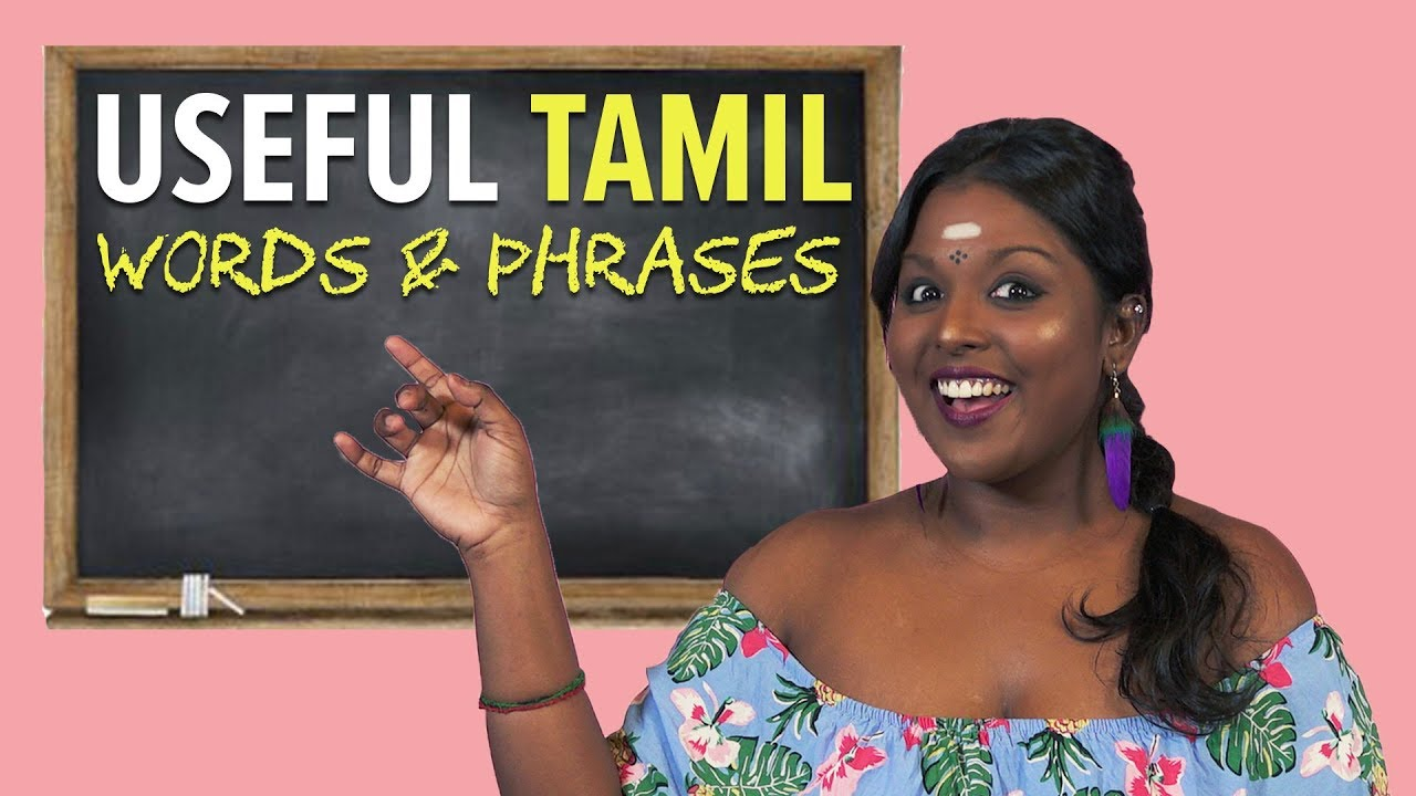 Basic Tamil Words & Phrases You Should Know By Now | NANDINI SAYS