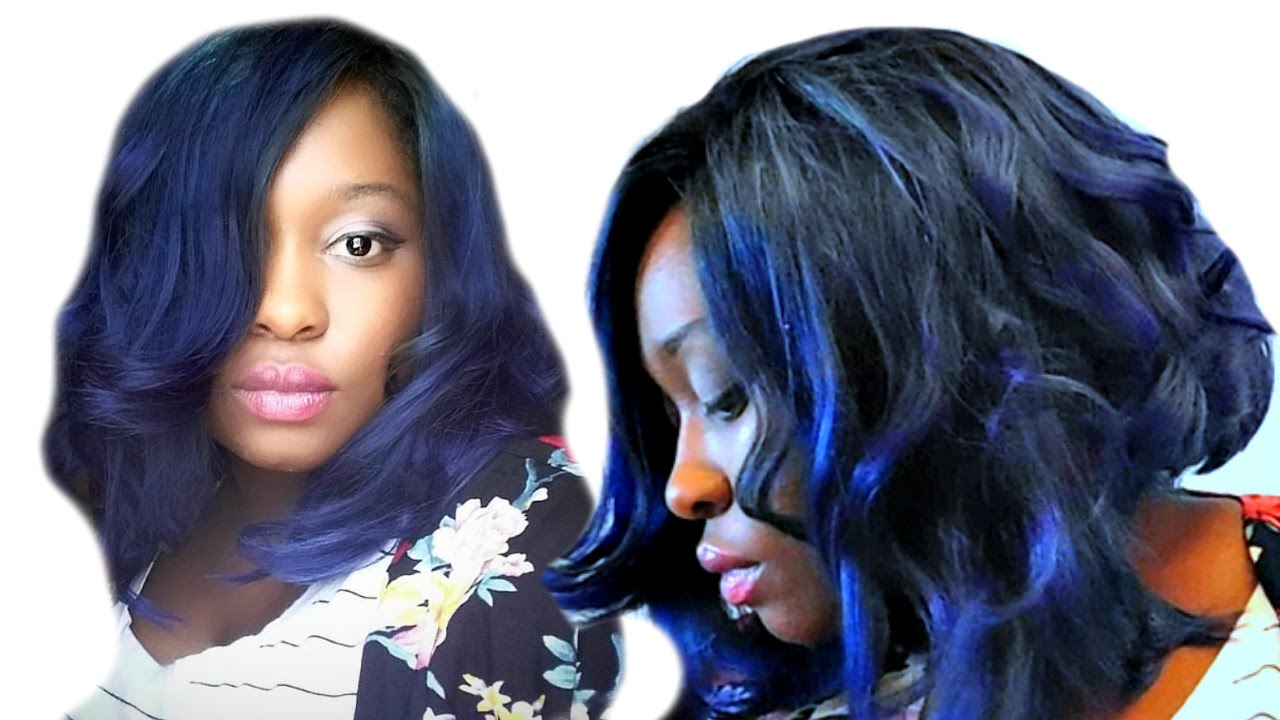 Hair Jazzing color bluest black pictures recommend to wear in winter in 2019