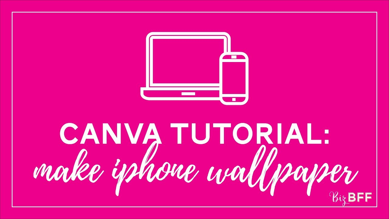 How to make a cell phone wallpaper background in Canva - Biz BFF