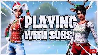 Fortnite Playing with Subscribers! // Vbuck Giveaway at Sub Goals // Fortnite Live Stream