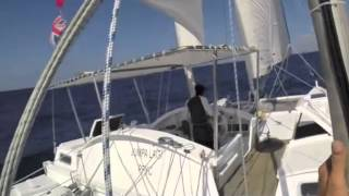 Wharram Tiki 38' - 'Jumpa Lagi' - Sailing in the Philippines April 2015