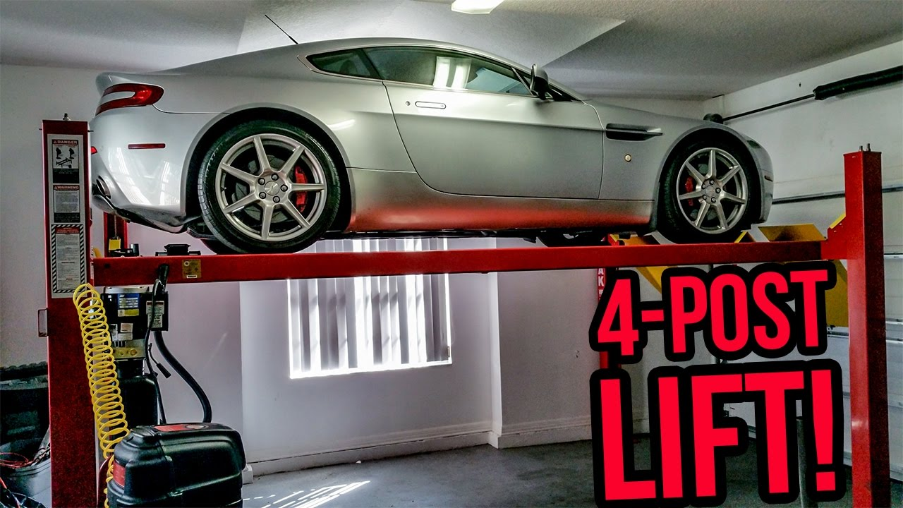 I Installed A Four Post Lift In My Garage Youtube