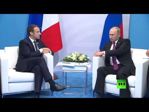 Владимир Путин встречается с Эммануэлем Макроном на саммите G20