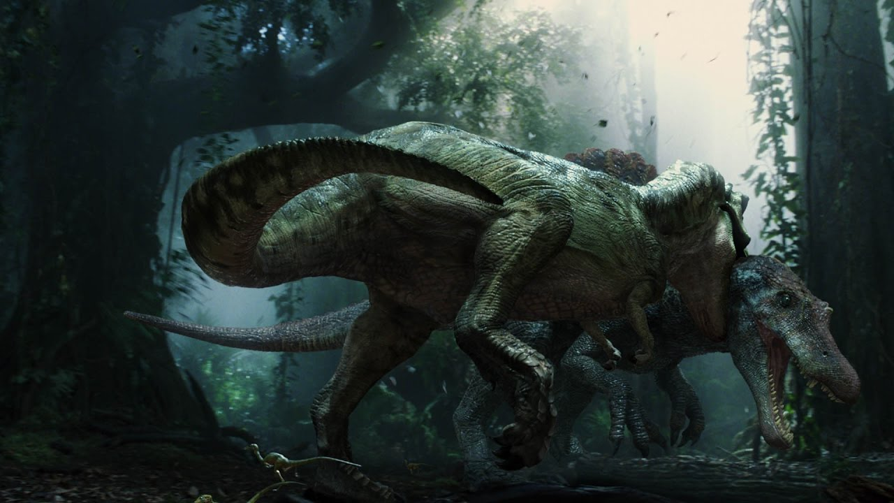 Live Wallpaper Money Falling Jurassic Park 3 T Rex Vs Spinosaurus Escena Completa