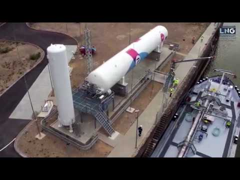 5 steps how to bunker LNG   Permanent LNG bunkering station for inland shipping