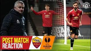 Solskjaer, Fernandes & Lindelof react to thrilling win | Manchester United 6-2 Roma | Europa League