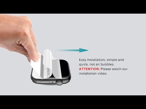 LK Flexible Film Screen Protector Installation Video For Apple Watch