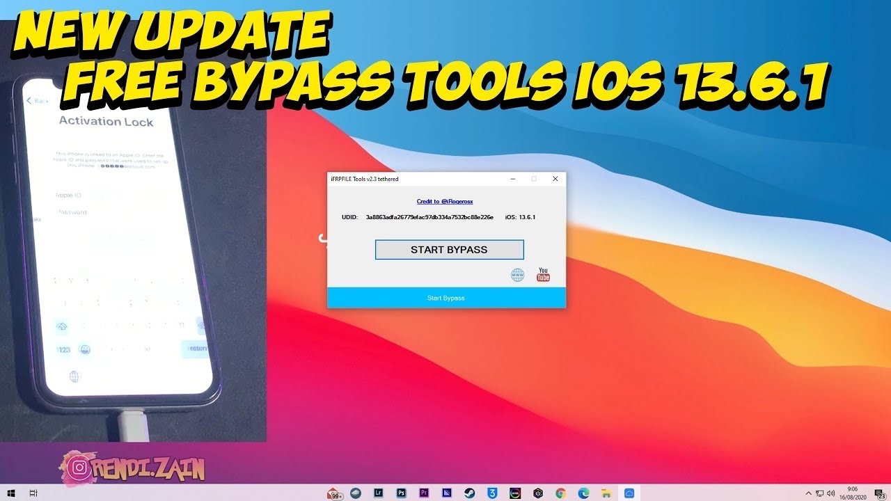 Tutorial Fullfree Untether Icloud Bypass Ios 12 4 8 13 6 1 Windows Bebas Restart Dan Mati Gampang Youtube