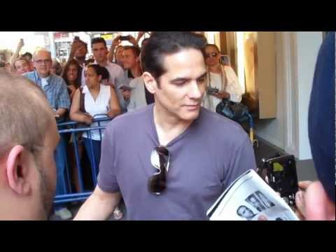 Yul Vazquez Signing Autographs after Broadway performance 2011.