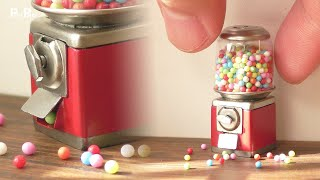 【Miniature】Gumball Machine Made from Scratch That Actually Works   1:12 Scale