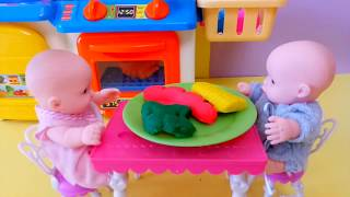Play Doh Kitchen Creations Toys for Children Learn Colors for Kids
