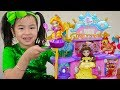 Jannie Pretend Play with Disney Princess Castle Girl Doll Toys for Kids
