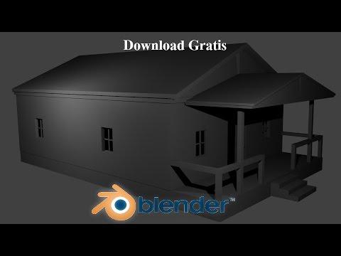 Casa simples no blender modelo 3d gratis download youtube for Modelo de casa en 3d