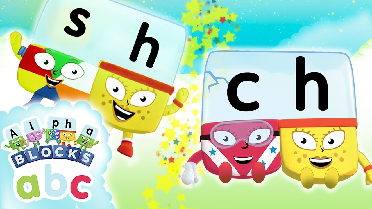 alphablocks learn to read sh ch teams phonics for kids youtube